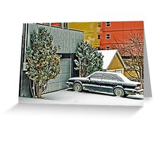 Parked in the Snow Greeting Card