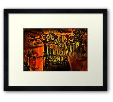 Graffiti - Creating imagination into reality Framed Print