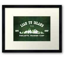 Vigilante Training Camp Framed Print