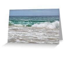 Makena Beach Wave Greeting Card