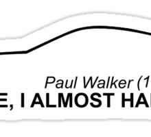 Paul Walker Sticker Sticker