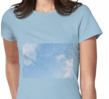 Melting snow drops blue sky Womens Fitted T-Shirt