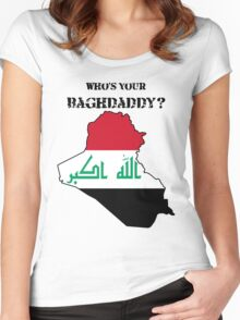 Who's Your Baghdaddy? (Flag) Women's Fitted Scoop T-Shirt