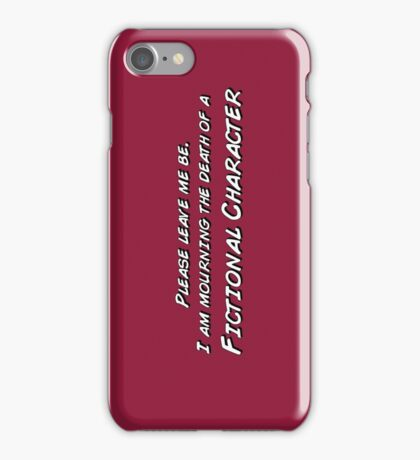 The death of a fictional character iPhone Case/Skin