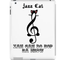 The Jazz Cat Sings iPad Case/Skin