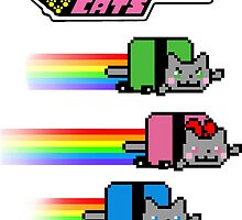 The Powernyan Cats by nipponolife