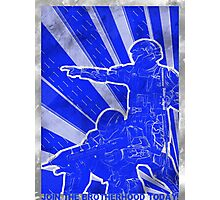 FC BLUE Army Propaganda (Weathered) Photographic Print