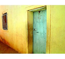 The Turquoise Door Photographic Print