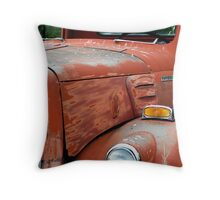 1950s Red International Harvester Truck Throw Pillow
