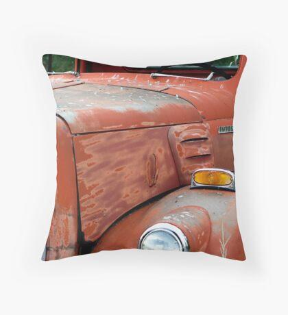 1950s Red International Harvester Truck Throw Pillow