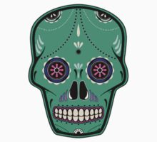 Sugar Skull Green by beeweecee