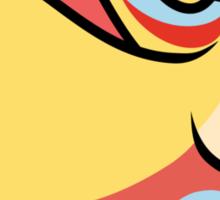 Orange Bird Wyvern Sticker