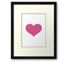 Heavy Black Heart Google Hangouts / Android Emoji Framed Print