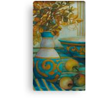 still life turquoise Canvas Print