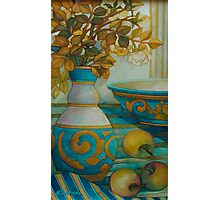 still life turquoise Photographic Print