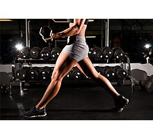 Exercise with Lunges with dumbbells Photographic Print
