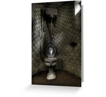 Turret Toilet Greeting Card