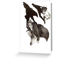 Darren and Mr. Crepsley Greeting Card