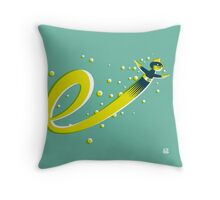 Super E (f) Throw Pillow