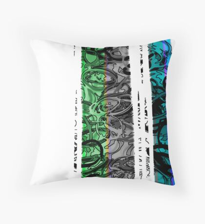 Kinetic abstract 1 Throw Pillow