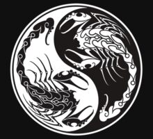 White and Black Scorpions Yin Yang  Kids Clothes