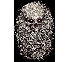 Skull & Roses Photographic Print