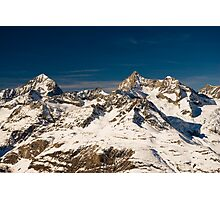 trifthorn and dent blanche Photographic Print