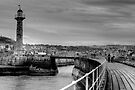 Whitby B&W by Paul Thompson Photography