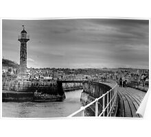 Whitby B&W Poster