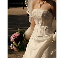 Wedding dress details Photographic Print