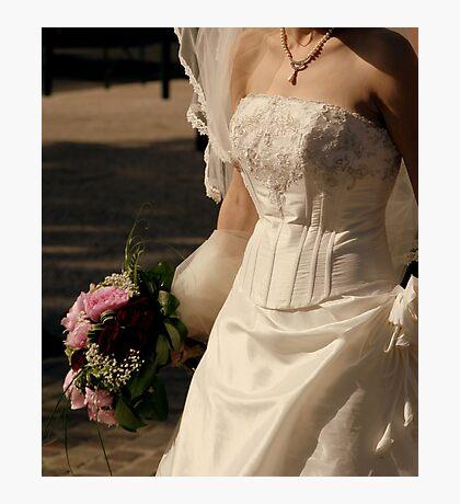Wedding dress details Photographic Print