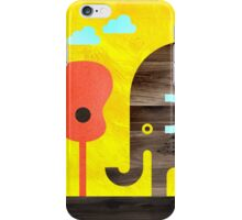 Elephant, Monkey, and Guitar Trees iPhone Case/Skin
