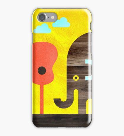 Elephant, Monkey, and Guitar Trees iPhone Case/Skin