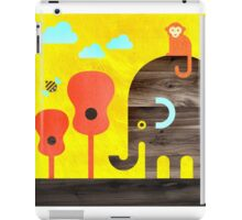 Elephant, Monkey, and Guitar Trees iPad Case/Skin