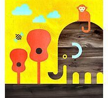 Elephant, Monkey, and Guitar Trees Photographic Print