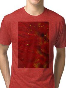 red macro Tri-blend T-Shirt