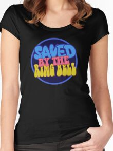 saved by the ring bell Women's Fitted Scoop T-Shirt