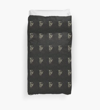 Only In The Darkness Can You See The Light -Martin Luther King Jr. Duvet Cover