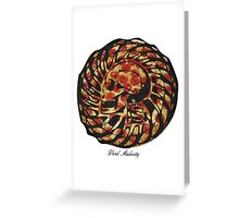 PIZZA SKULL FACE Greeting Card