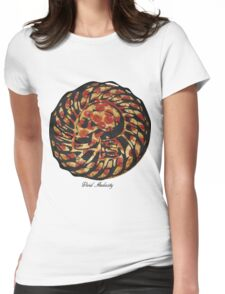 PIZZA SKULL FACE Womens Fitted T-Shirt