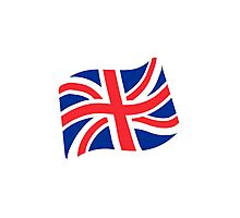 Flag For Great Britain Google Hangouts / Android Emoji Photographic Print