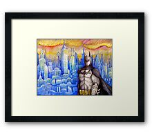 pouting bat man  Framed Print