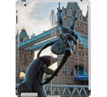Girl with a Dolfin at Tower Bridge, London, England iPad Case/Skin