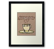 Liquid Wisdom Framed Print