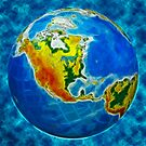 globe, in a center north America by Sergieiev