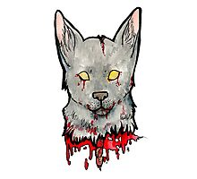 Bloody Wolf Photographic Print
