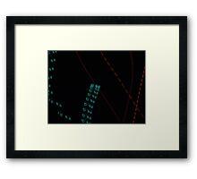 dimension clock Framed Print