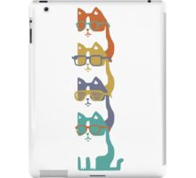 Colorful Cats In Glasses Stack iPad Case/Skin