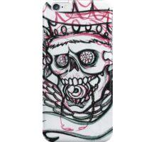 Royal tattoo style skull iPhone Case/Skin