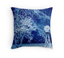 Blue Blizzard Throw Pillow